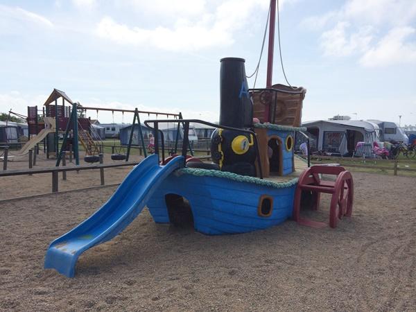 camping, västkusten, lekplats, barn