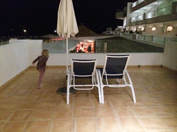 charter, balkong, rum, familj, barn, hotell