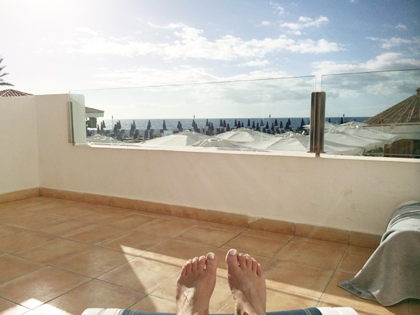 sol, balkong, hotell, charter