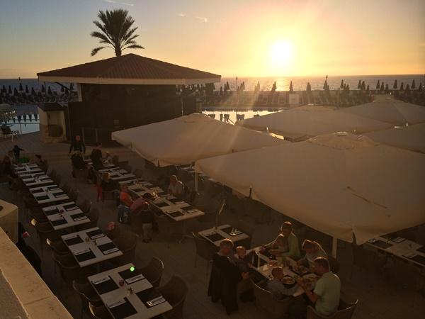 solnedgång, havsutsikt, hotell, kanarieöarna