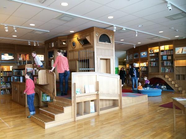 rum för barn, bibliotek, barn, stockholm