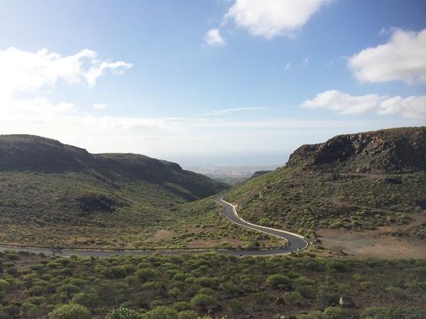 hyra bil, gran canaria, bergen, utsikt
