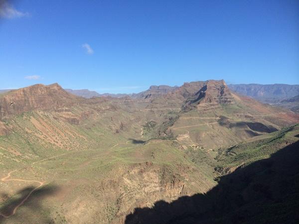 utsikt, berg, gran canaria