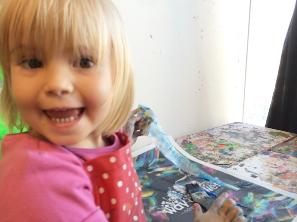 papier maché, barn, rum för barn
