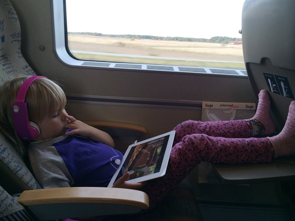 tåg, resa, barn