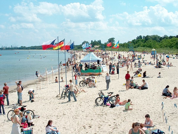 En fin sandstrand utanför Gdansk.